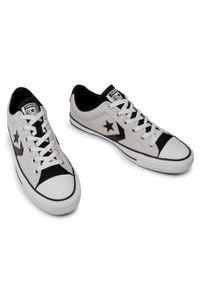 Szare buty sportowe Converse z cholewką