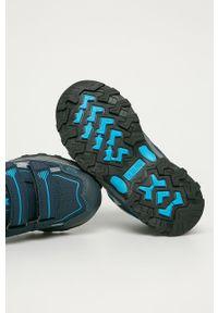 Niebieskie buty zimowe Big-Star z cholewką, na zimę, na rzepy