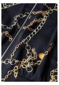 mango - Mango Kurtka bomber Chain 87046332 Czarny Regular Fit. Kolor: czarny #3