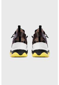 Wielokolorowe sneakersy Kazar Studio z okrągłym noskiem, z cholewką