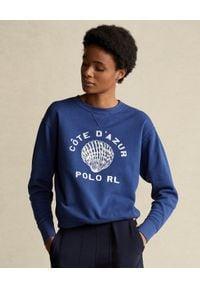 Ralph Lauren - RALPH LAUREN - Niebieska bluza z polaru. Typ kołnierza: polo. Kolor: niebieski. Materiał: polar. Długość rękawa: długi rękaw. Długość: długie