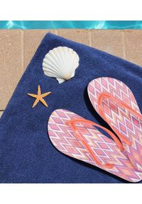 Różowe japonki LANO na plażę, w kolorowe wzory
