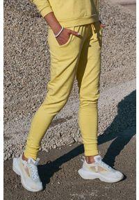 Cardio Bunny - Spodnie POPPY. Kolor: żółty. Materiał: dzianina