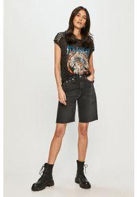 Tommy Jeans - Szorty jeansowe. Okazja: na co dzień. Kolor: czarny. Materiał: bawełna. Styl: casual
