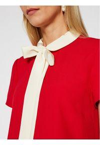 Czerwona sukienka Red Valentino na co dzień, prosta
