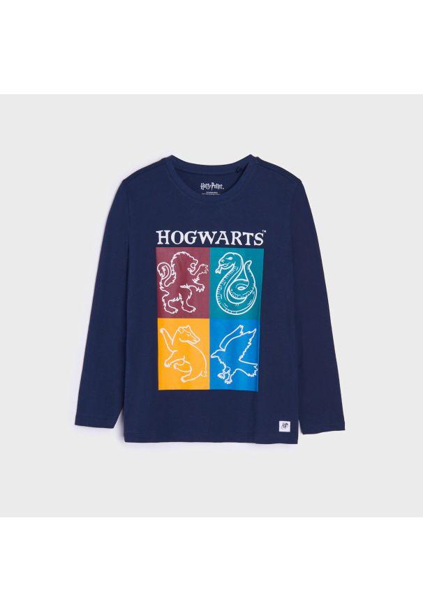 Sinsay - Koszulka Harry Potter - Granatowy. Kolor: niebieski