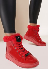 Czerwone płaskie botki Renee