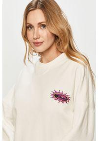 Biała bluza Quiksilver bez kaptura, z długim rękawem, długa