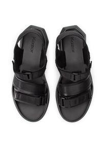 Czarne sandały Kazar na rzepy, casualowe, na co dzień
