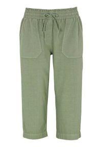 Cellbes Luźne rybaczki ze spranej bawełny jasne khaki female zielony 56. Kolor: zielony. Materiał: bawełna