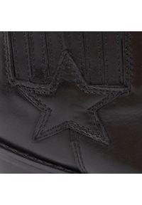 Czarne botki Guess z cholewką, na obcasie, na średnim obcasie