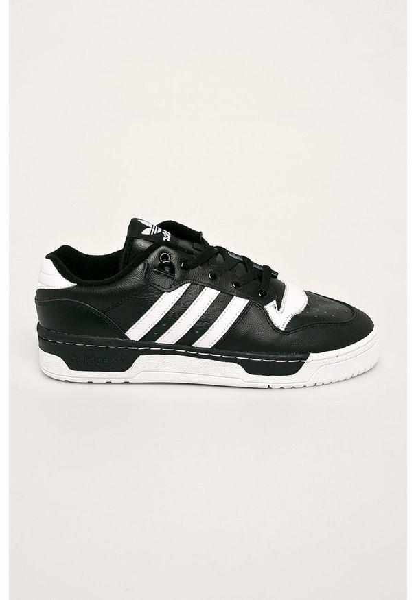 Czarne sneakersy adidas Originals z cholewką, z okrągłym noskiem