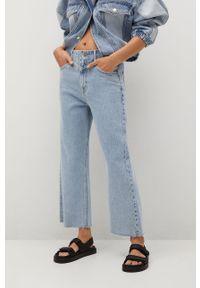 Niebieskie jeansy loose fit mango z podwyższonym stanem