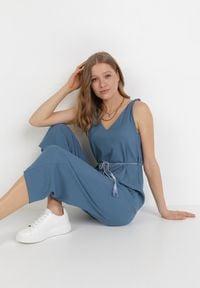 Born2be - Niebieski Kombinezon Phimeine. Kolor: niebieski. Długość rękawa: na ramiączkach