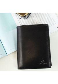 Krenig - Portfel skórzany męski KRENIG Classic 12029 czarny w pudełku. Kolor: czarny. Materiał: skóra
