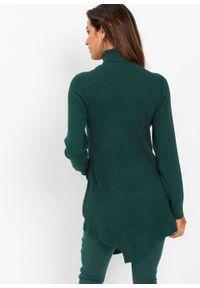 Zielony sweter bonprix długi