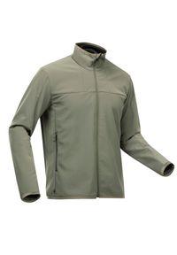 FORCLAZ - Kurtka trekkingowa męska Softshell Forclaz Trek 900 WindWarm. Kolor: zielony, brązowy, wielokolorowy, szary. Materiał: softshell