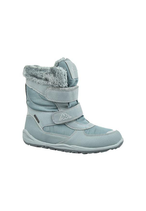 Szare buty trekkingowe Kappa w kolorowe wzory, na zimę, z cholewką