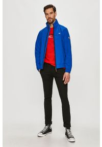 Czerwony t-shirt Tommy Jeans z aplikacjami, na co dzień, casualowy