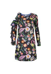 """Pinko Sukienka """"Immortalare"""". Okazja: na co dzień. Materiał: tkanina. Wzór: kwiaty, aplikacja, nadruk. Typ sukienki: proste. Styl: casual. Długość: mini"""
