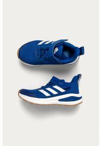 Niebieskie buty sportowe adidas Performance Adidas Cloudfoam, z okrągłym noskiem