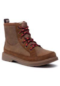Brązowe buty zimowe Ugg z cholewką, z cholewką przed kolano