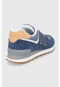 New Balance - Buty ML574AB2. Nosek buta: okrągły. Zapięcie: sznurówki. Kolor: niebieski. Materiał: guma. Model: New Balance 574