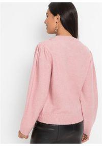 Fioletowy sweter bonprix z kokardą