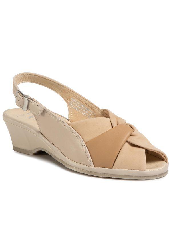 Beżowe sandały Marco Tozzi casualowe, na co dzień