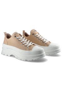 CheBello - Sneakersy CHEBELLO 2729_-298-000-PSK-S161 Pudrowy Róż. Zapięcie: sznurówki. Kolor: różowy. Materiał: jeans, skóra, materiał. Szerokość cholewki: normalna. Sezon: lato. Obcas: na platformie. Styl: sportowy