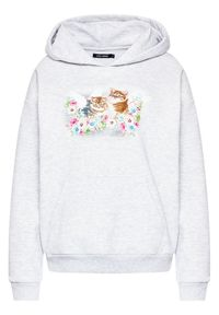 Local Heroes Bluza Angels Kittens AW21S0004 Szary Regular Fit. Kolor: szary