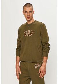 Zielona bluza nierozpinana GAP z aplikacjami, casualowa