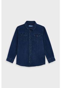 Niebieska koszula Mayoral klasyczna, długa