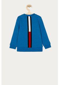 Niebieska bluza TOMMY HILFIGER casualowa, z aplikacjami, na co dzień, bez kaptura #3