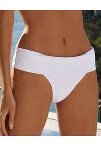 Melissa Odabash - MELISSA ODABASH - Dół od bikini Brussels. Kolor: biały. Materiał: tkanina, koronka, materiał, prążkowany