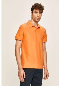 Pomarańczowa koszulka polo Izod casualowa, krótka, na co dzień