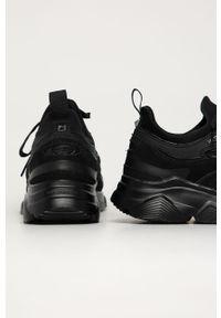 Czarne sneakersy Karl Lagerfeld na sznurówki, z cholewką