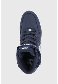DC - Buty Pensford. Nosek buta: okrągły. Zapięcie: sznurówki. Kolor: niebieski. Materiał: guma