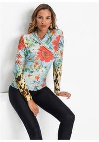 Shirt z długim rękawem bonprix jasnoniebieski. Kolor: fioletowy. Długość rękawa: długi rękaw. Długość: długie