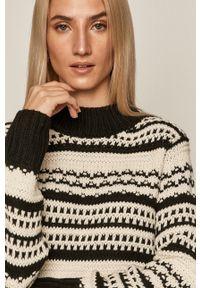 Czarny sweter medicine z długim rękawem, długi, casualowy