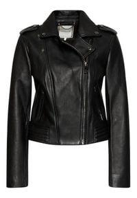 TOMMY HILFIGER - Tommy Hilfiger Kurtka skórzana Leather Biker WW0WW28680 Czarny Regular Fit. Kolor: czarny. Materiał: skóra