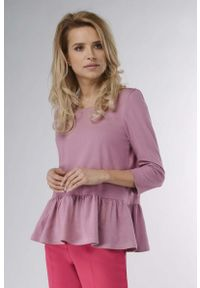 Różowa bluzka z długim rękawem Nommo
