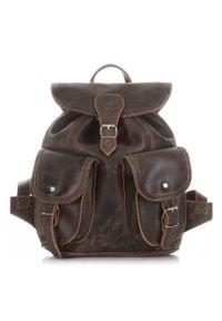 Skórzany plecak damski vintage j.brązowy PAOLO PERUZZI S-11-LB. Kolor: brązowy. Materiał: skóra. Styl: vintage