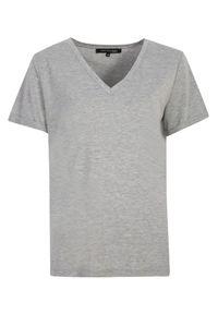 Szary t-shirt TOP SECRET w kolorowe wzory, na co dzień, casualowy, z krótkim rękawem