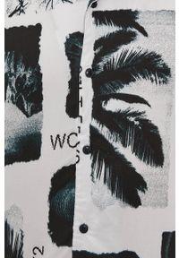 Only & Sons - Koszula. Kolor: szary. Materiał: wiskoza, tkanina, materiał. Długość rękawa: krótki rękaw. Długość: krótkie