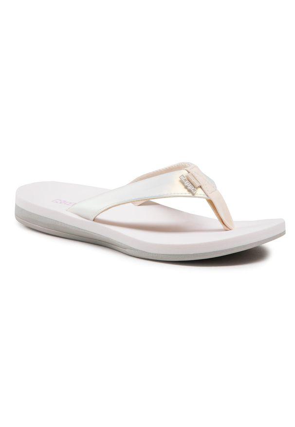 Kappa - Japonki KAPPA - 242979 White/Multi 1017. Kolor: biały. Materiał: materiał