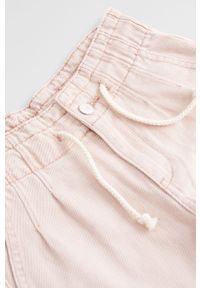 Różowe jeansy Mango Kids z podwyższonym stanem