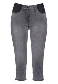 Szare jeansy bonprix casualowe, na co dzień