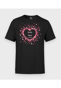 MegaKoszulki - Koszulka męska Różowe serduszka. Kolor: różowy. Materiał: bawełna