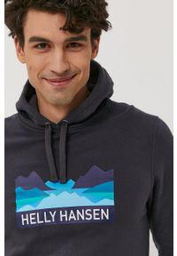 Szara bluza nierozpinana Helly Hansen casualowa, na co dzień